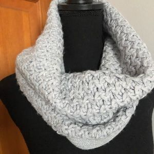 Gray and Silver Infinity Scarf